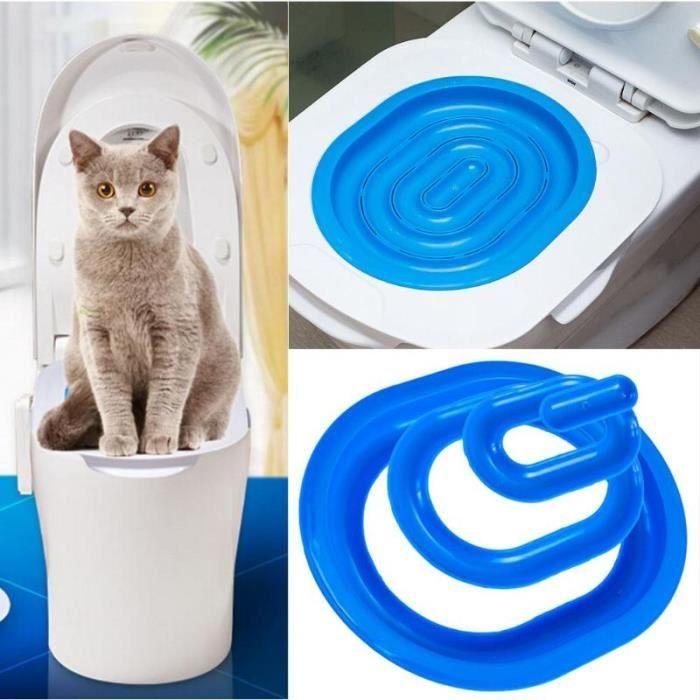 Kit de toilette en plastique pour chat Boîte à litière Chiot Tapis de litière pour chat Dresseur de toilettes pour chat Nettoyage