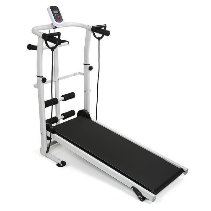 Tapis roulant mécanique, Tapis de marche de course Machine de fitness d'exécution de formation avec écran LCD