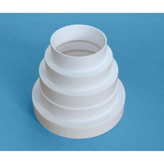 Adaptateur de hotte de réduction 80100120125150 tuyau de 150 mm