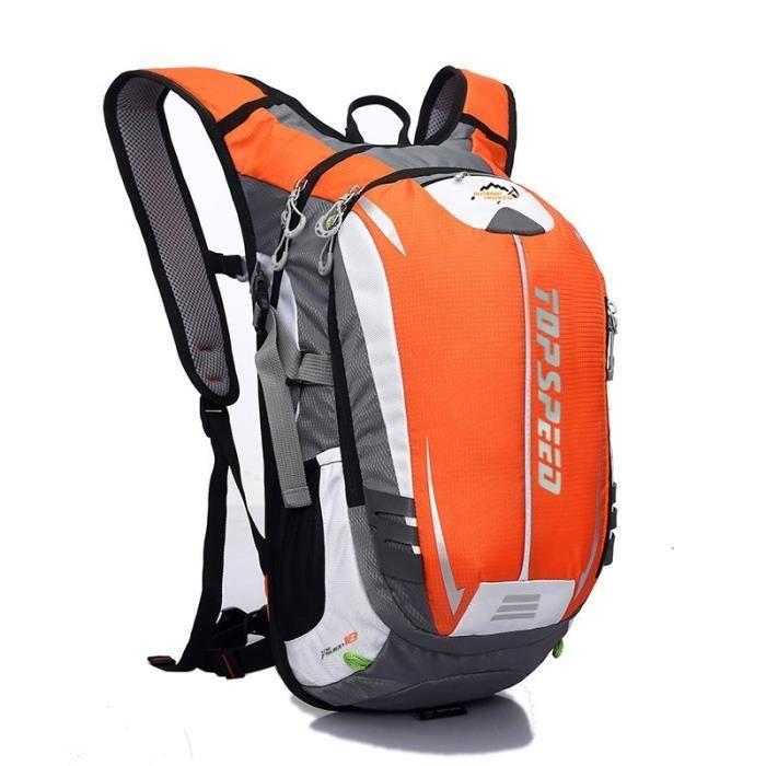 Sac à Dos,18L mode sac à dos hydratation Pack sac à dos étanche vélo route sac à dos sac à dos sacs - Type Orange