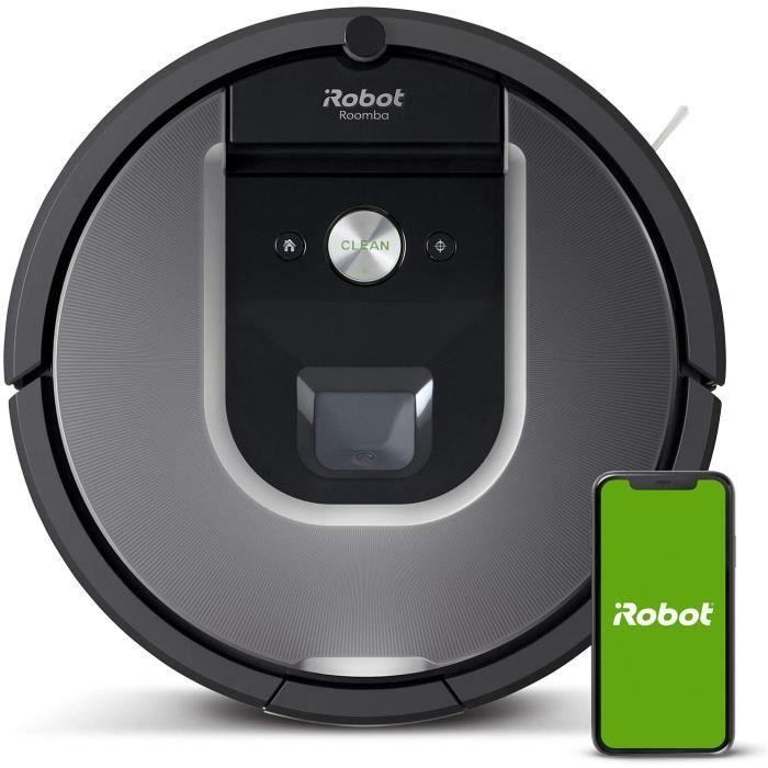 iRobot Roomba 960, aspirateur robot avec forte puissance d'aspiration, 2 brosses anti-emmêlement, idéal pour animaux, capteurs de po
