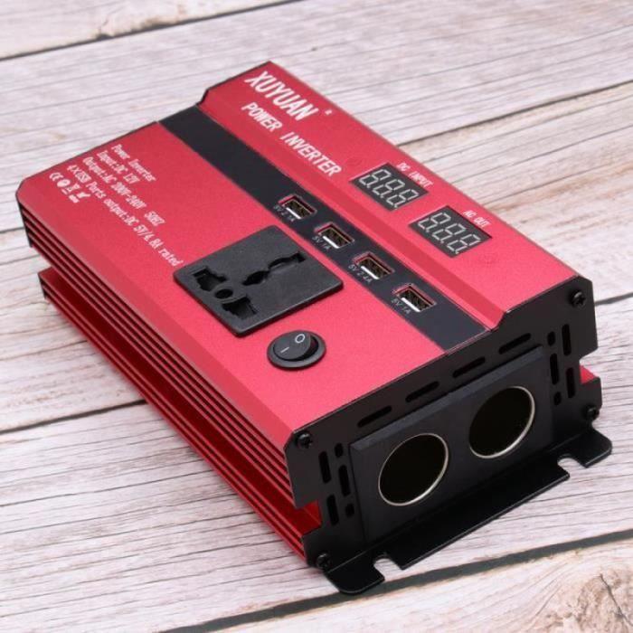 Alimentation de voiture de convertisseur de puissance 600W puissante 12V à 220V à CA avec affichage à LED OUTIL DE DIAGNOSTIC