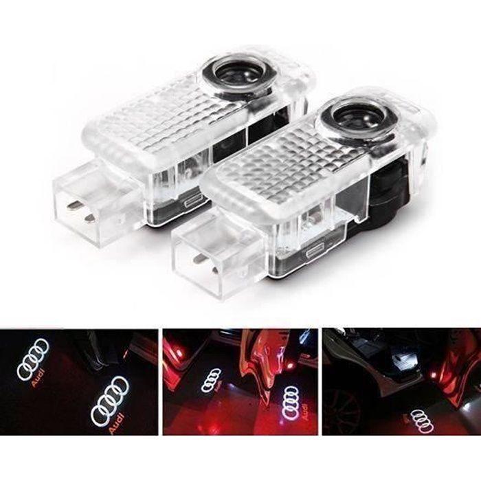 TH XY 2x éclairage de lumière de la porte LED pour la lumière porte de voiture Audi logo de projection a094 - XYPHT1210A2580