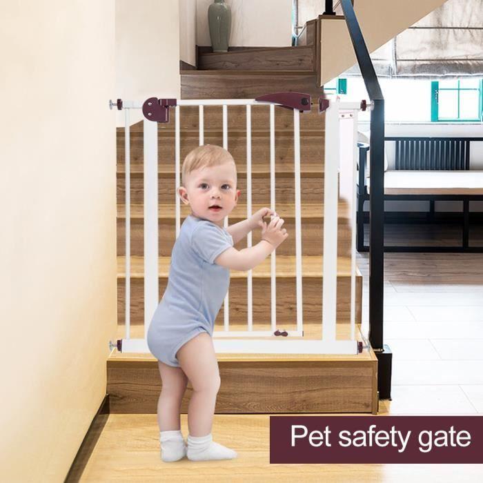XIXI Barrière de sécurité - Porte-grille d'escalier extensible - 75-84 cm