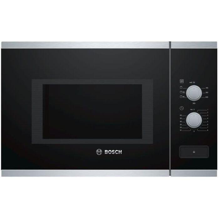 Bosch Serie - 4 BEL550MS0 Four micro-ondes grill intégrable 25 litres 900 Watt acier inoxydable