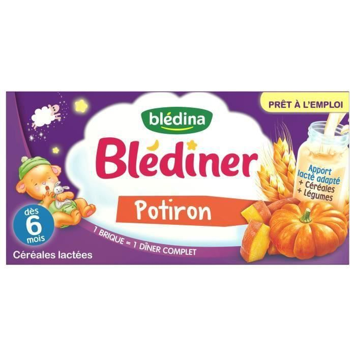 BLEDINA Blédîner Lait au Potiron - 200 ml - Dès 4/6 mois (Lot de 3)