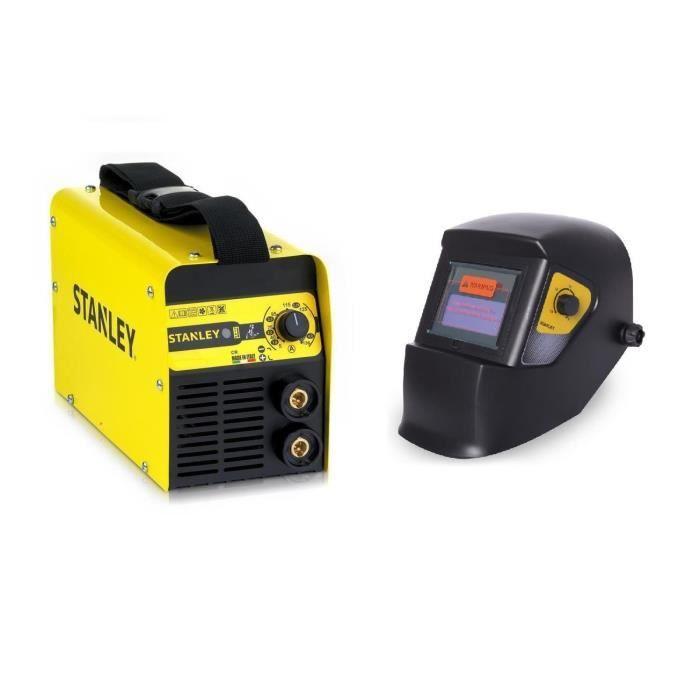 STANLEY Poste à souder Star 3200 130 A avec cagoule de soudure automatique LCD DIN 9-13 + 5 électrodes