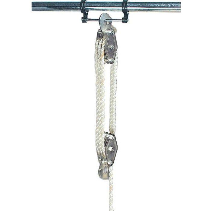 MANNESMANN Palan à main - Capacité 180 kg - Gris