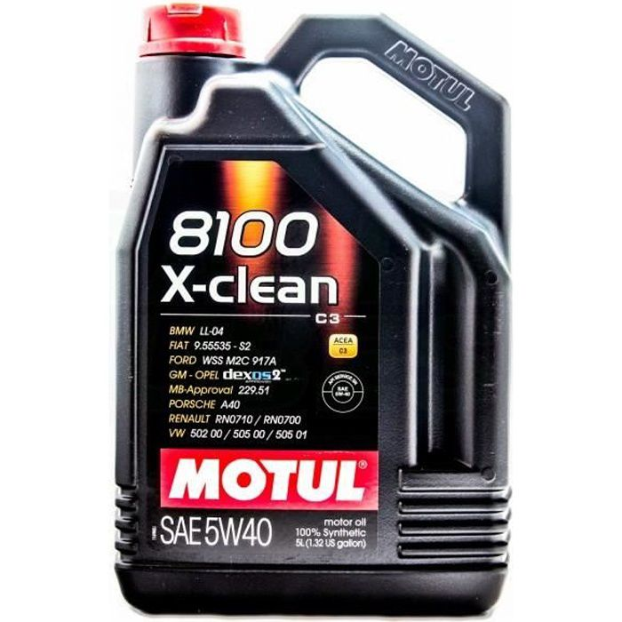 Motul 8100 X-CLEAN 5W40 - Conditionnement - Bid...