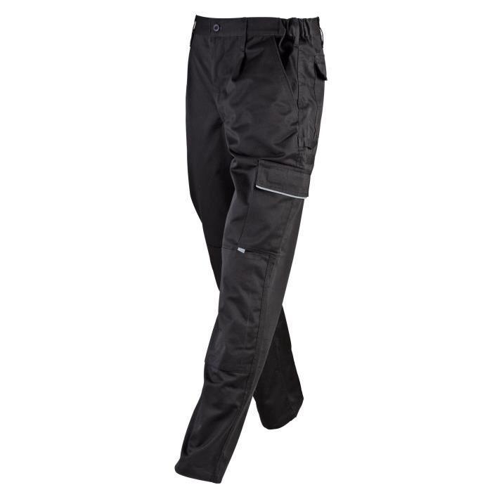 Pantalons de travail pour hommes Noir