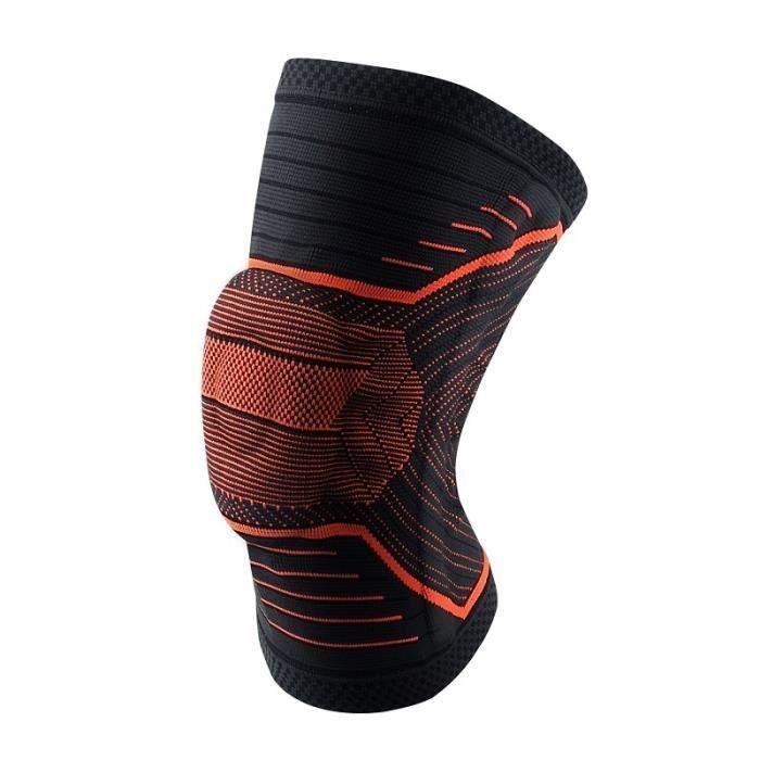 PROTEGE-CHEVILLES - CHEVILLERE,1 pièces 3D tricot genouillère volley ball course genouillère soutien élastique en - Type Orange-XL