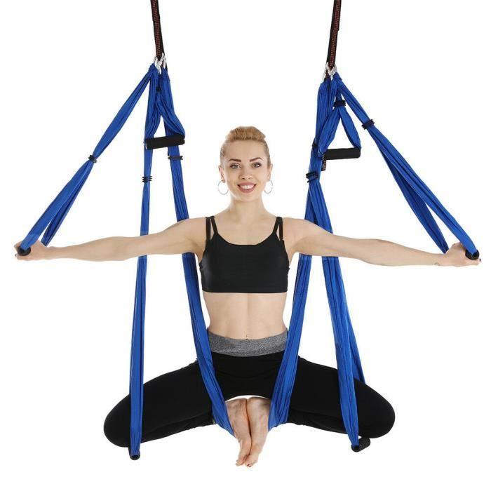 TEMPSA Sangle de suspension pour yoga gymnastique fitness musculation Bleu