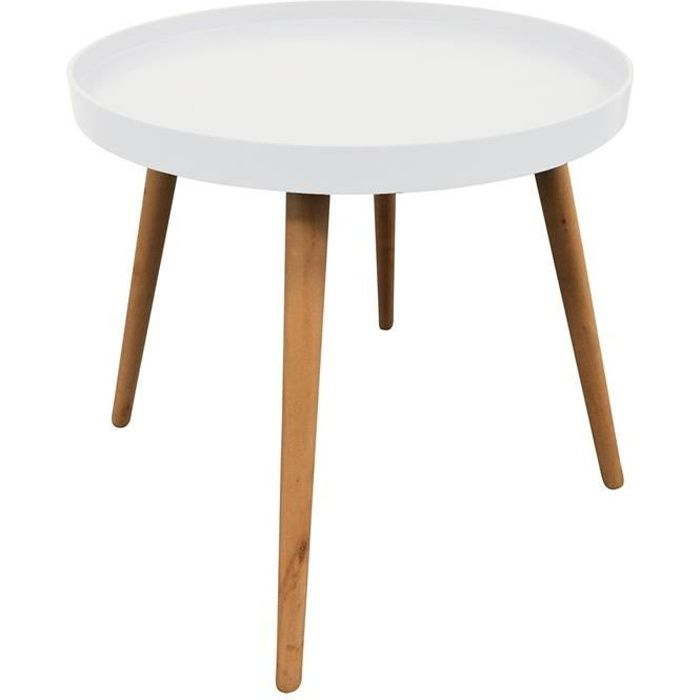 Table d'appoint ronde avec plateau