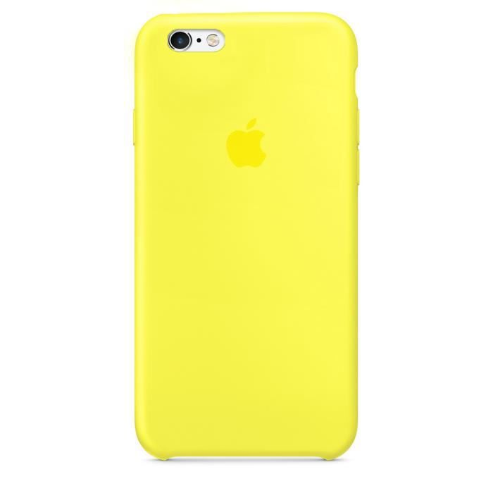apple coque en silicone pour iphone 6p 6sp jaune