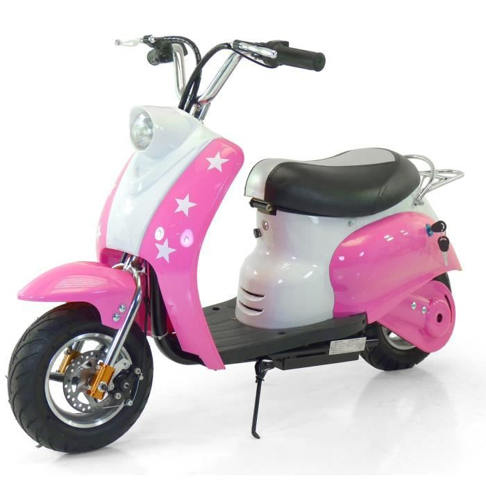 scooter lectrique enfant 350w type vespa avec rangement sous la selle achat vente moto. Black Bedroom Furniture Sets. Home Design Ideas