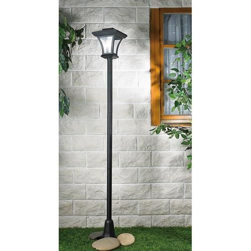 lampadaire de jardin ext rieur solaire led 166 c achat. Black Bedroom Furniture Sets. Home Design Ideas
