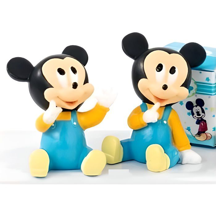 Assortiment de 2 figurines Mickey cadeaux de bapt/ême