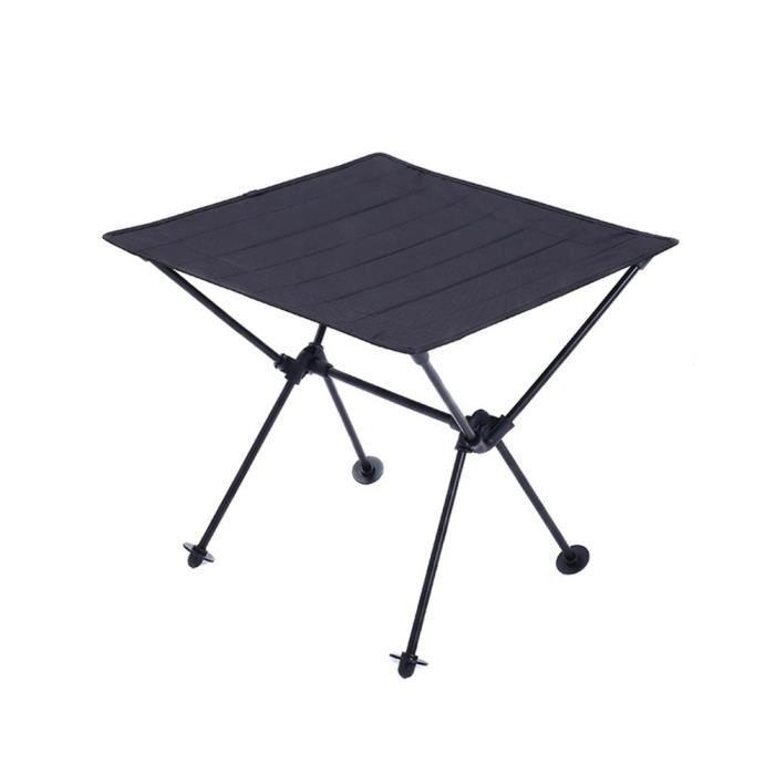 Table de jardin pliante Table camping pliable pliante aluminium Ultra  légère avec Sac de Transport pour randonnée, Pique-Nique Noir