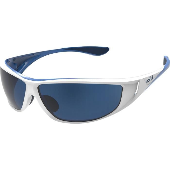 Bolle Highwood Blanc Brillant/Bleu Polarized Offshore Blue dN9MB0xh