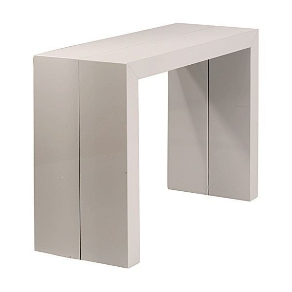 Table console extensible orianne gris clair achat for Table extensible gris clair