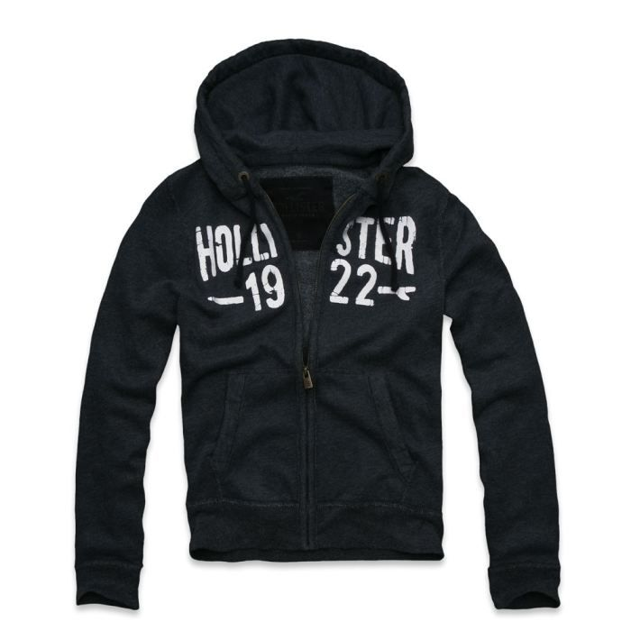 sweat zipp hollister marine bleu noir achat vente sweatshirt cdiscount. Black Bedroom Furniture Sets. Home Design Ideas