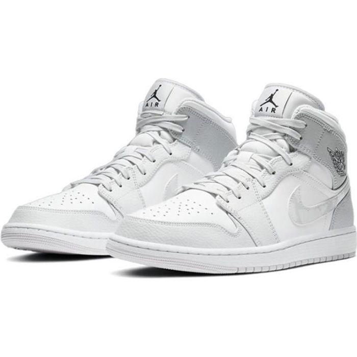"""Air Jordan 1 Mid""""Grey Camo""""Chaussure de Sport AJ 1 Pas Cher pour ..."""