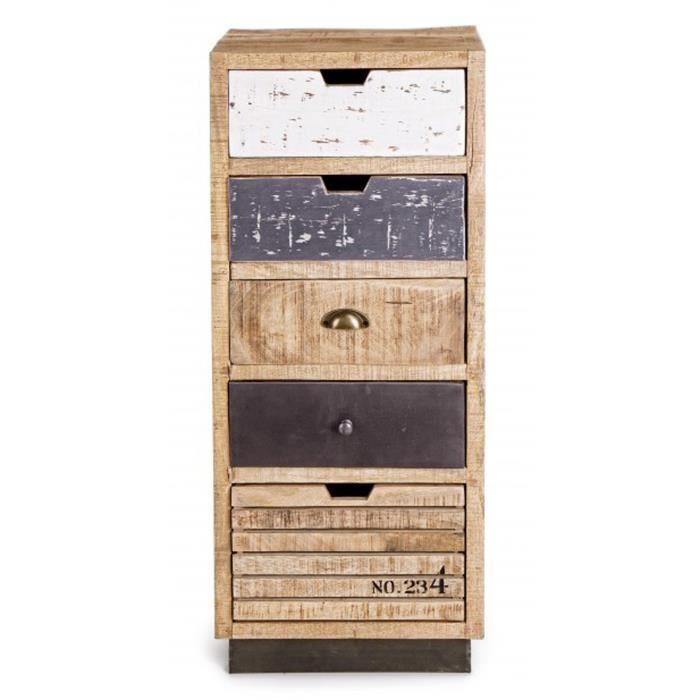 COMMODE DE CHAMBRE Commode avec 5 tiroirs en bois - Dim : L 45 x P 35
