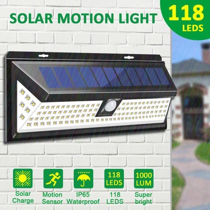 30 DEL Lumineux Solaire Sécurité Lumière avec motion 120 Solar Lights Outdoor