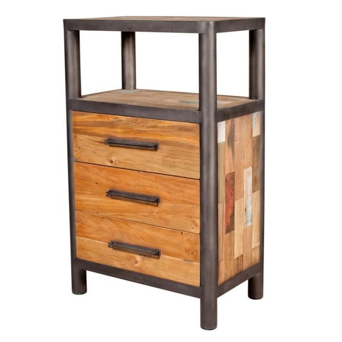 chiffonnier 3 tiroirs 1 niche modernity achat vente chiffonnier semainier chiffonnier 3. Black Bedroom Furniture Sets. Home Design Ideas