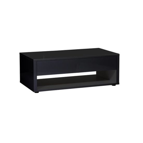 URBANA style noir contemporain Table laqué basse brillant NPnw8k0OX