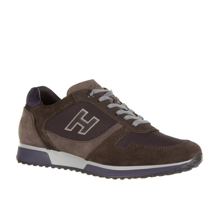 Chaussures baskets sneakers homme en daim interactive h flock Hogan
