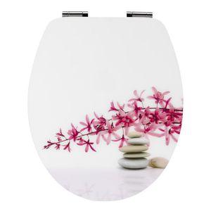 Zen Bains Abattant Wc Orchidée Multicolore Achat Vente