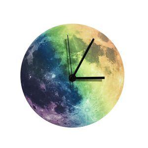 Horloge Murale Lune Phosphorescente Radiocommand/ée 30 cm ETL