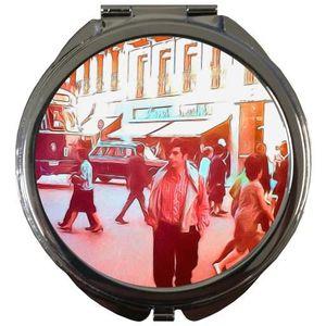 MIROIR DE POCHE  Miroir de Poche Rond - Rue De Passage Millésime 19
