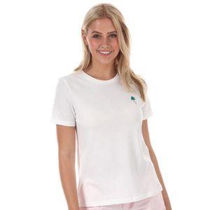 T-SHIRT T-Shirt Vero Moda Palmier pour femme en blanc.