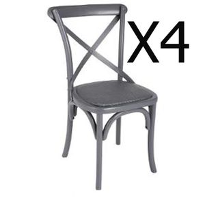 Chaise bistrot bois achat vente chaise bistrot bois - Chaise bistrot noire ...