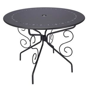 table de jardin ronde achat vente pas cher cdiscount. Black Bedroom Furniture Sets. Home Design Ideas