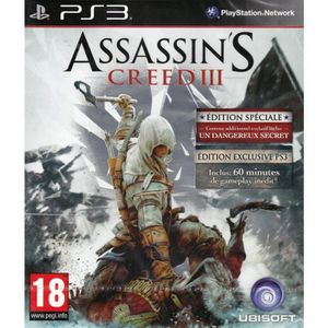 JEU PS3 Assassin's Creed 3 - PS3 Edition Spéciale Day One