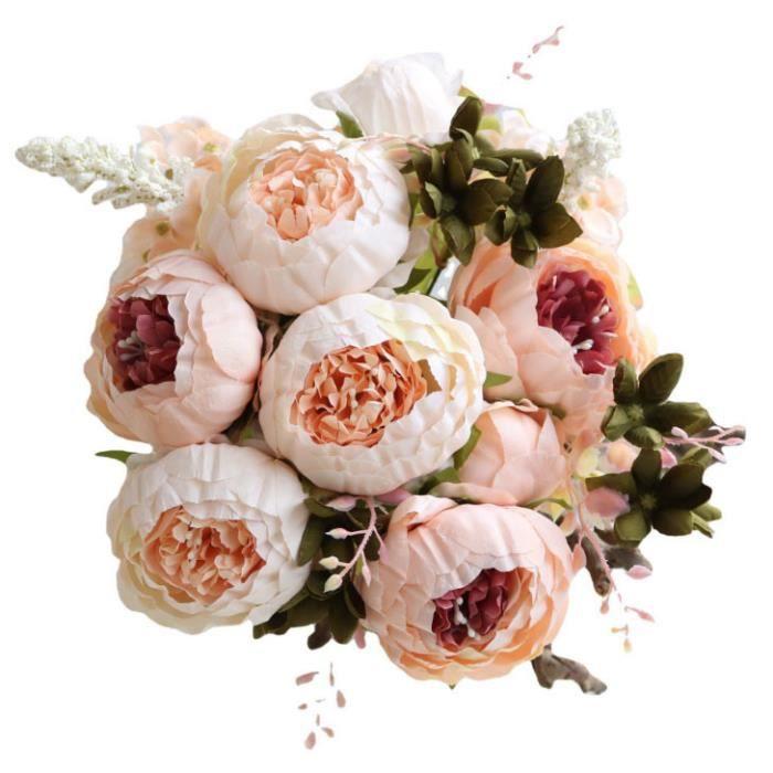 fleur artificielle 1 bouquet de s en soie pivoine vintage pour la décoration 483JC