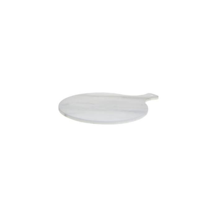 Planche à découper en marbre - D 27 cm - Blanc 1 cm
