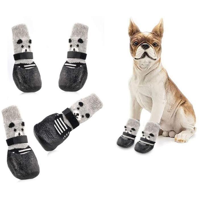 Chaussette pour Chien,Chaussettes Anti Dérapantes Chien,Chaussette de Protection Chien,Dog Socks,Dog Shoes,Dog Boots,Contrôle de Tra
