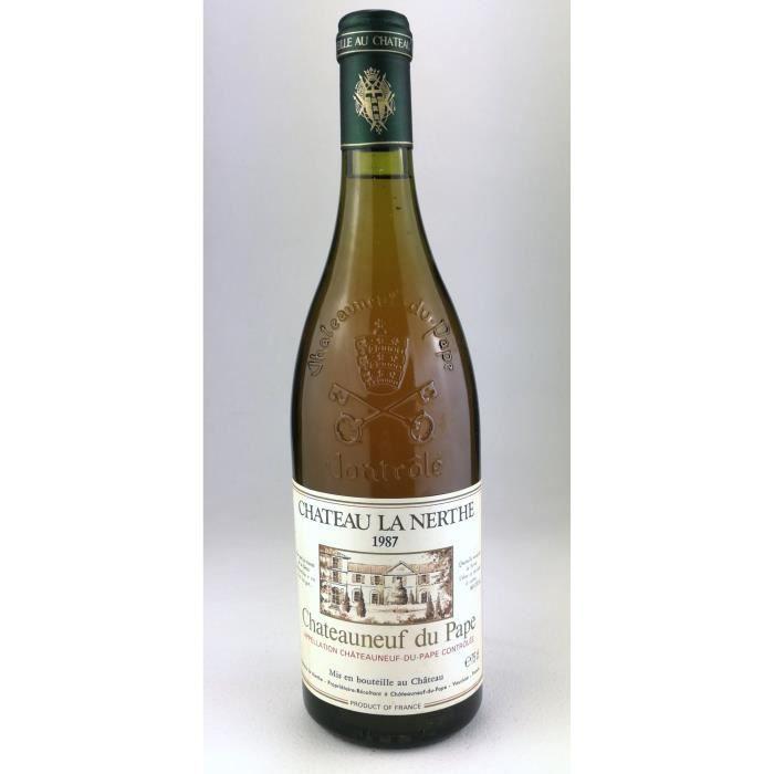 1987 - Chateau la Nerthe blanc - Chateauneuf du Pape (Bouteille 01)