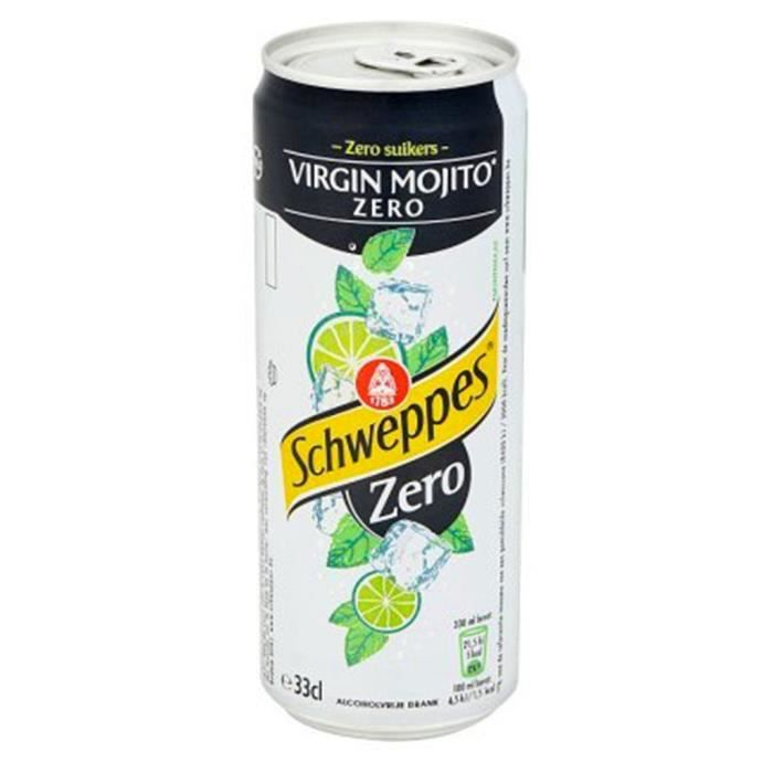 Schweppes Virgin Mojito Zéro 33cl (pack de 24)