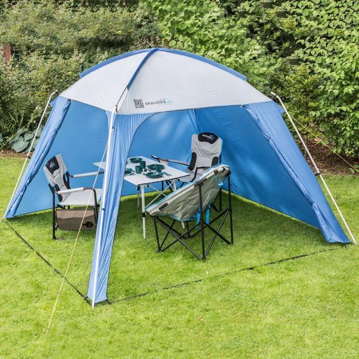 SKANDIKA Tente de jardin - 300x300x210cm - Coloris : bleu