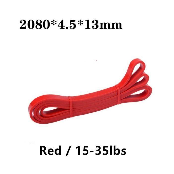 208cm Fitness bandes de résistance Latex sport Yoga tirer corde élastique élastique élastique équipem - Modèle: Red - HSJSTLDA09156
