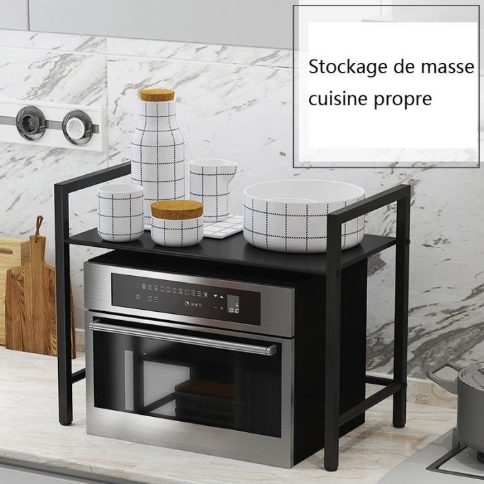 Support de Cuisine Four à Micro-Ondes Support de Rangement Domestique à Double Couche 50*30*50CM