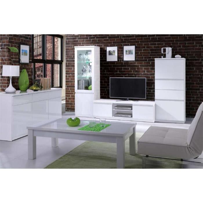 Meuble TV design FABIA - Blanc