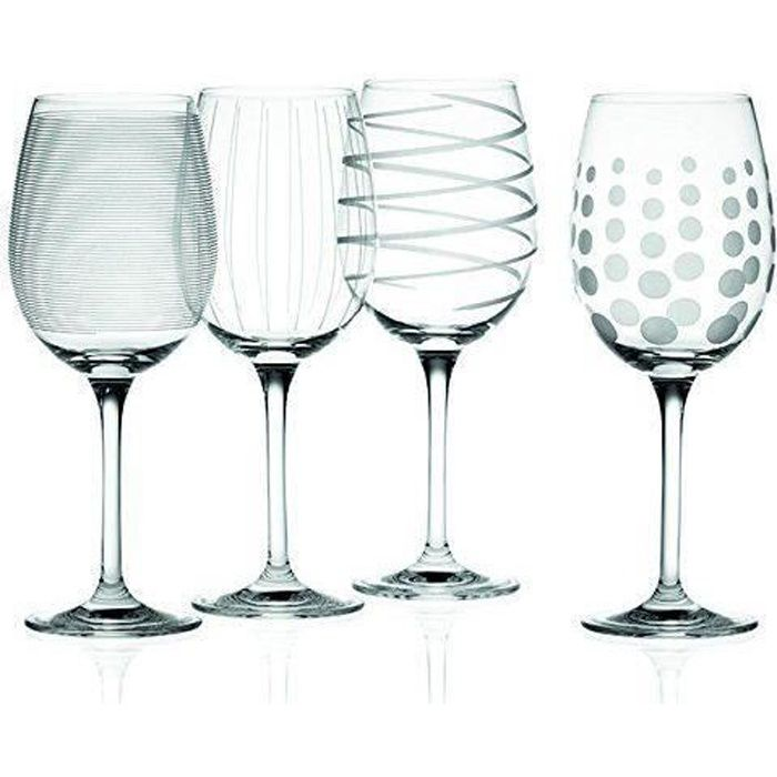 Creative Tops Mikasa Cheers Crystal-Verre à vin blanc-Lot de 4 - 5159282