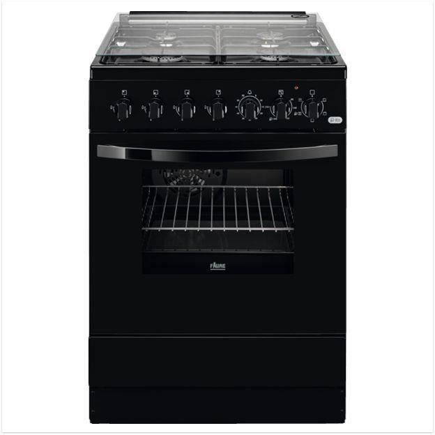 FAURE FCK6524CBA - Cuisinière table gaz - 4 zones - four électrique - Chaleur brassée - Catalyse - A - 57L - L60 x H 85 cm - noir