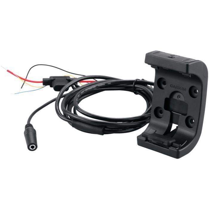 Garmin - Support pour GPS Moto Avec câble d'alimentation-audio - Noir